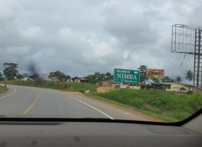 Halaluya!!!  Good road on this portion of the trip. Welcome to NIMBA County!!